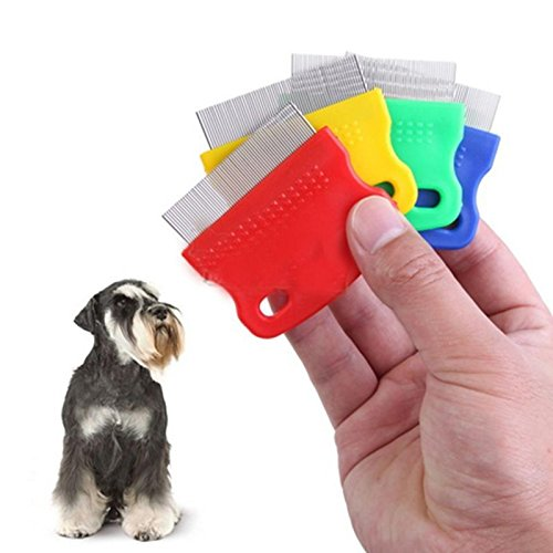JD Million shop Pet Dog Cat Clean Comb Grooming Tool Steel Small Fine Toothed Comb Catching Lice