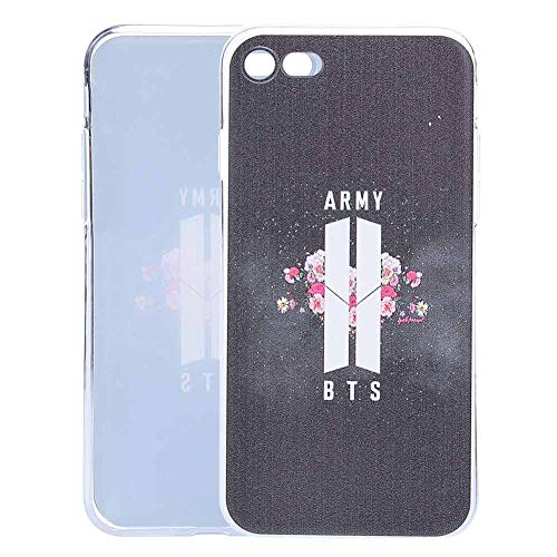 T-shirt Phone (Teblacker BTS Phone Case, Kpop Bangtan Boys Ultra-Thin Anti-Slip Soft TPU Protective Phone Cover for iPhone & Samsung(iPhone7/8 Army))