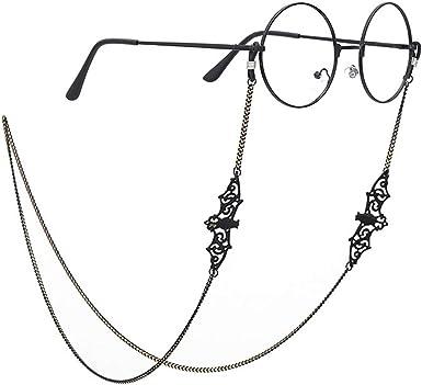 Pinksee Women Men Glasses Chain Black Bat Eyeglass Strap Holder Eyewear  Retainer at Amazon Men's Clothing store