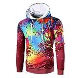 SPE969 Digital Print Men's Hoodie Long Sleeve Hooded Sweatshirt Tops Outwear Coat