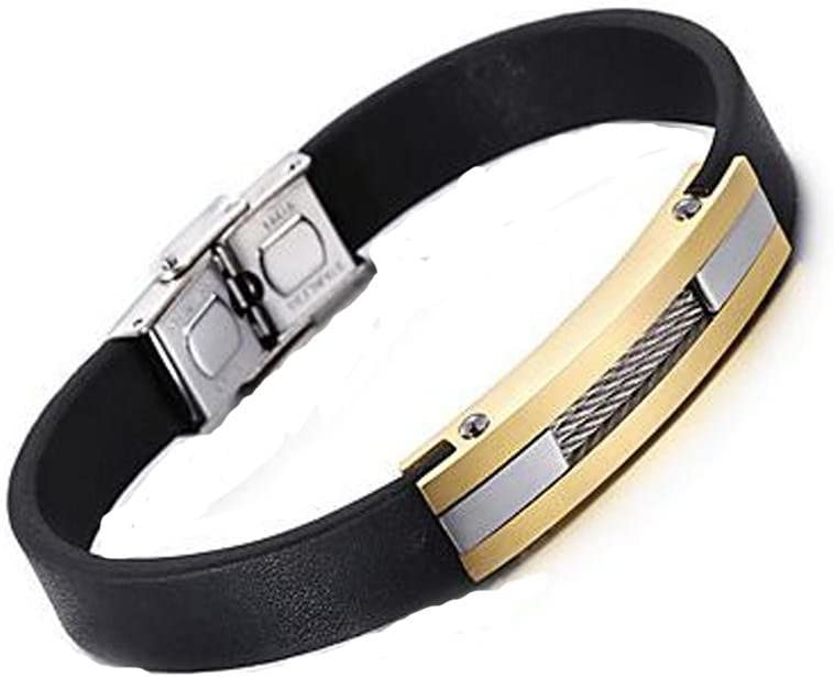 GYJUN Accesorio de moda de nuevo Cool cuero pulsera moda 316 acero inoxidable encanto pulsera de los hombres