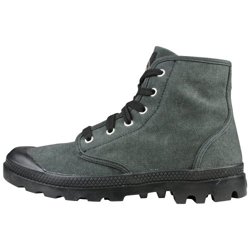 - Palladium Pampa Hi Men's Stonewashed Black Canvas Ankle Hiking Chukka Combat Boot