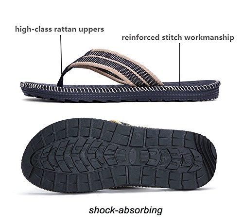 Flip-folps Antislip Zool Zwembad Schoenen Y-stijl String Sandalen Anti-stink Strand Badkamer Slides, Mens Grootte Rood