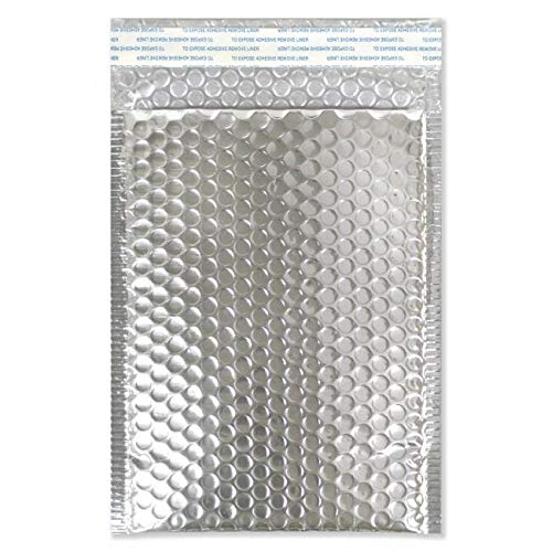 25 Pack DRAX Mailers Silver #0 Metallic Bubble Mailers Padded Envelopes 6x10 inch Bubble Envelopes Mailer]()