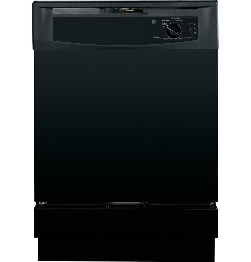 GE GIDDS-118576 Built-In Dishwasher, Black, 5 Cycles/2 Options