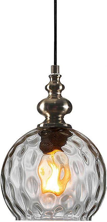 Clear Glass Single Minimalist Restaurant Bar Pendant Lamp Chandelier Light