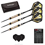 Red Dragon Golden Eye 1: 30g - 85% Tungsten Steel Darts with Flights, Shafts, Wallet & Red Dragon Checkout Card