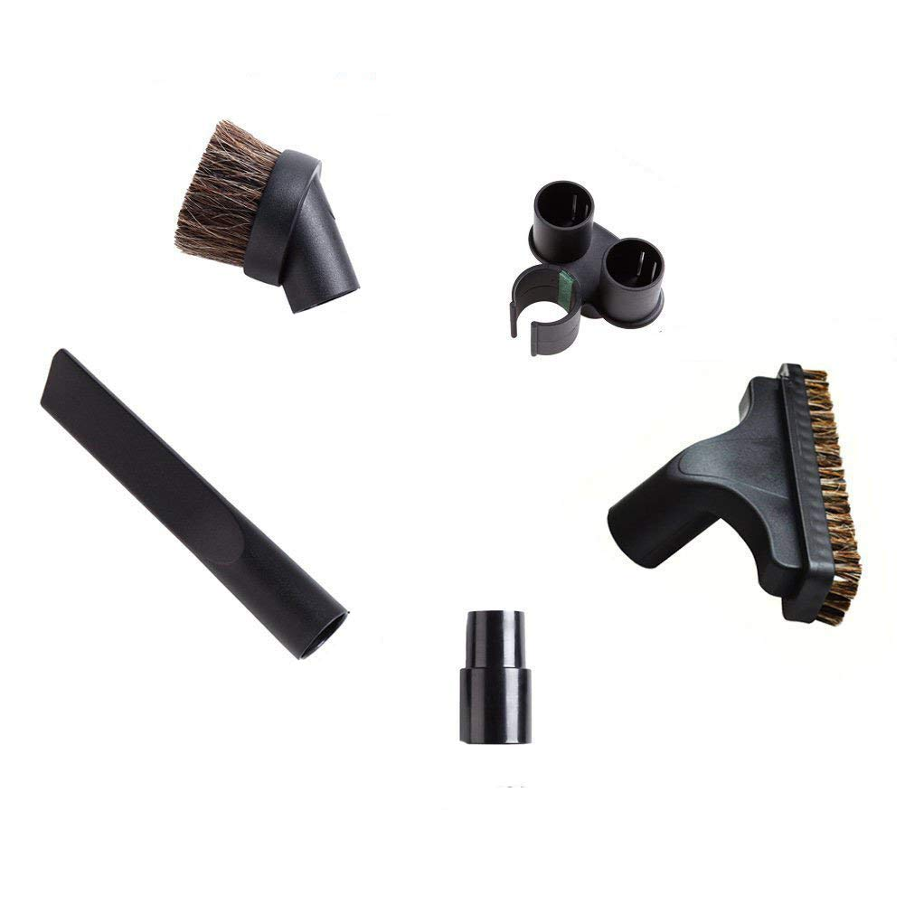 EZ SPARES Relpacement Vacuum Cleaner Brush(5 PCS),Fit Universal 32mm 35mm Attachment,Horsehair Small Round Brush Kit,Fit Hoover Eureka Dirt Devil Kirby Rainbow Kenmore Electrolux,Vacuum Accessories