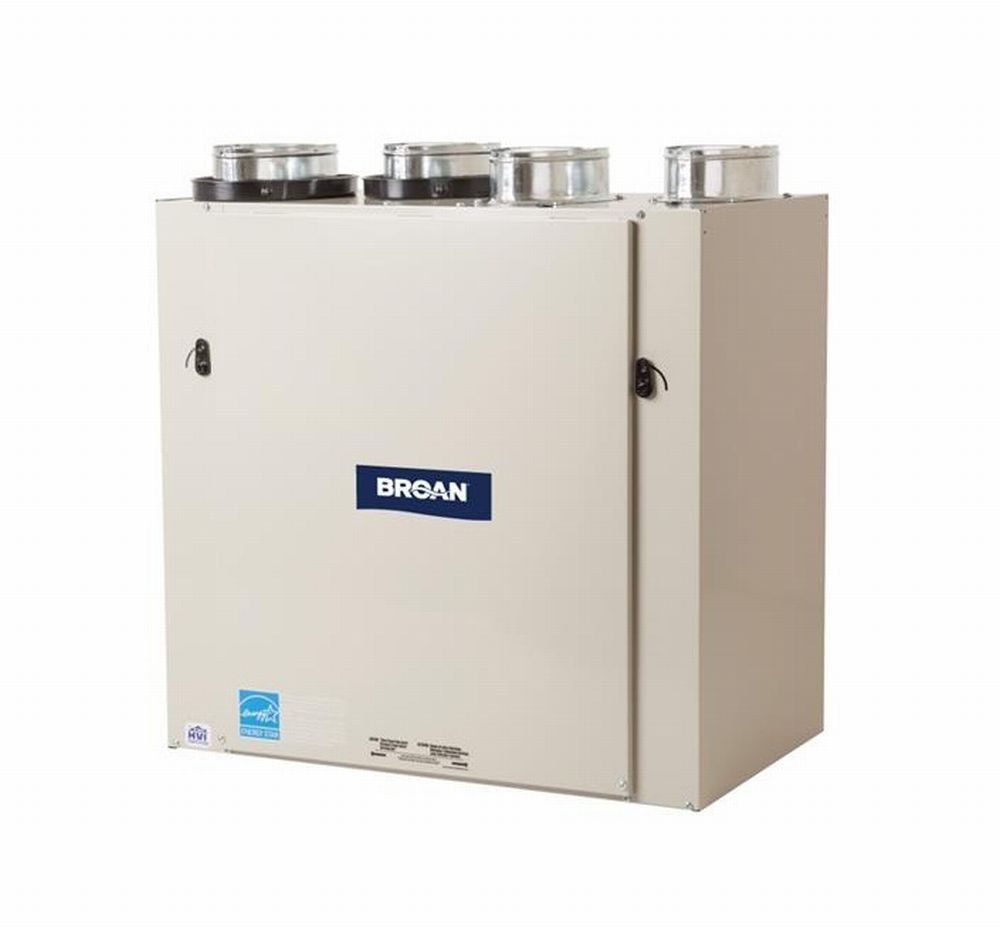"""Broan ERV140TE Energy Recovery Ventilator, 120V Ultra-Efficient for 6"""" Ducts - 140 CFM Max"""