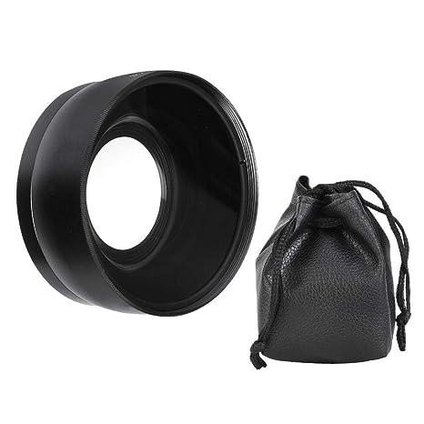 EBTOOLS Lente de cámara Negra, conversión Macro de 0.45X de 55 mm ...