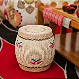 RXY-Wicker chair Japanese Rattan Breathable Shoes Bench Handmade Fashion Living Room Shoe Bench