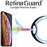 """RetinaGuard Anti-Blue Light Tempered Glass Screen Protector for iPhone Xs Max 6.5"""" (Transparent) - SGS & Intertek Tested - Blocks Excessive Harmful Blue Light, Reduce Eye Fatigue and Eye Strain"""