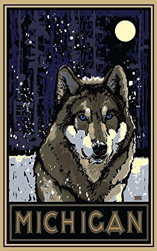 michigan-timberwolf-travel-art-poster-by-artist-18x24-art-print-for-bedroom-living-room-kitchen-fami