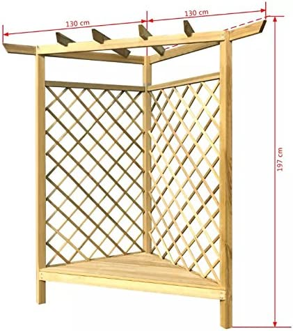 Kit de pérgola de madera para asiento de jardín, esquina, enrejado ...