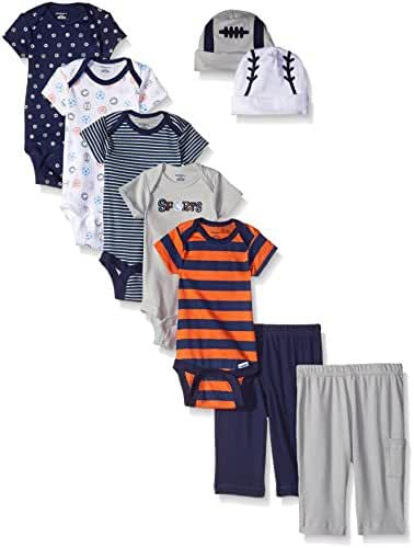 Gerber Baby Boys' 9 Piece Seriously Cute Bodysuit, Pant, and Cap Gift Set