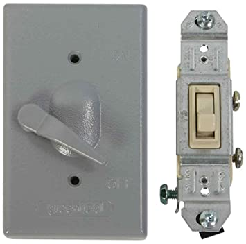 Made in USA Electrical Box Outlet Cover Single Pole Switch Kit