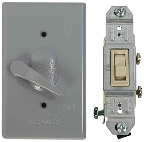 Made in usa electrical box outlet cover single pole switch kit made in usa electrical box outlet cover single pole switch kit gray mozeypictures Images