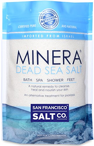 Minera Dead Sea Salt, 20lbs Fine. 100% Pure and Certified. Natural treatment for psoriasis, eczema, acne and more (Dead Sea Salt 20 Lbs compare prices)