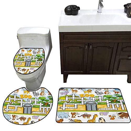 Toilet seat 3 Piece Set Word Search Puzzle