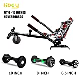 """Hiboy HC-01S Go Kart Conversion Kit Hoverboard Kart Seat Attachment Accessory for 6.5"""" 8"""" 10"""" Two Wheel Self Balancing Scooter"""