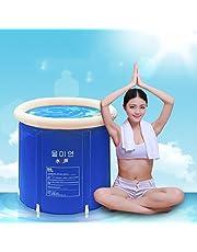 Baignoire Pliage baignoire bain baril baignoire adulte bain gonflable, plus épais baignoire de seau en plastique
