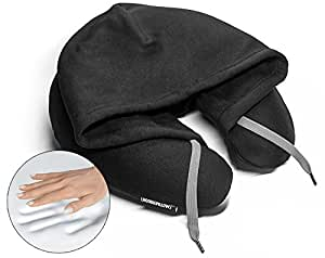HoodiePillow Memory Foam Travel Pillows (Black)