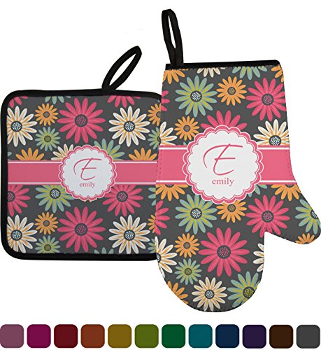 Daisies Oven Mitt & Pot Holder (Personalized) (Personalized Mitt)