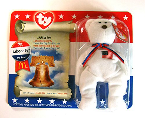 Libearty Bear (MCDONALDS Happy Meal COLLECTIBLE TY LIBEARTY THE BEAR BEANIE BABY-NIP#by:always_awesome_accessories_805)