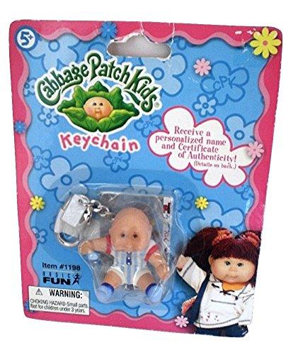 Cabbage Patch Kids Sitting Baby Striped Onesie Toy Keychain Basic Fun