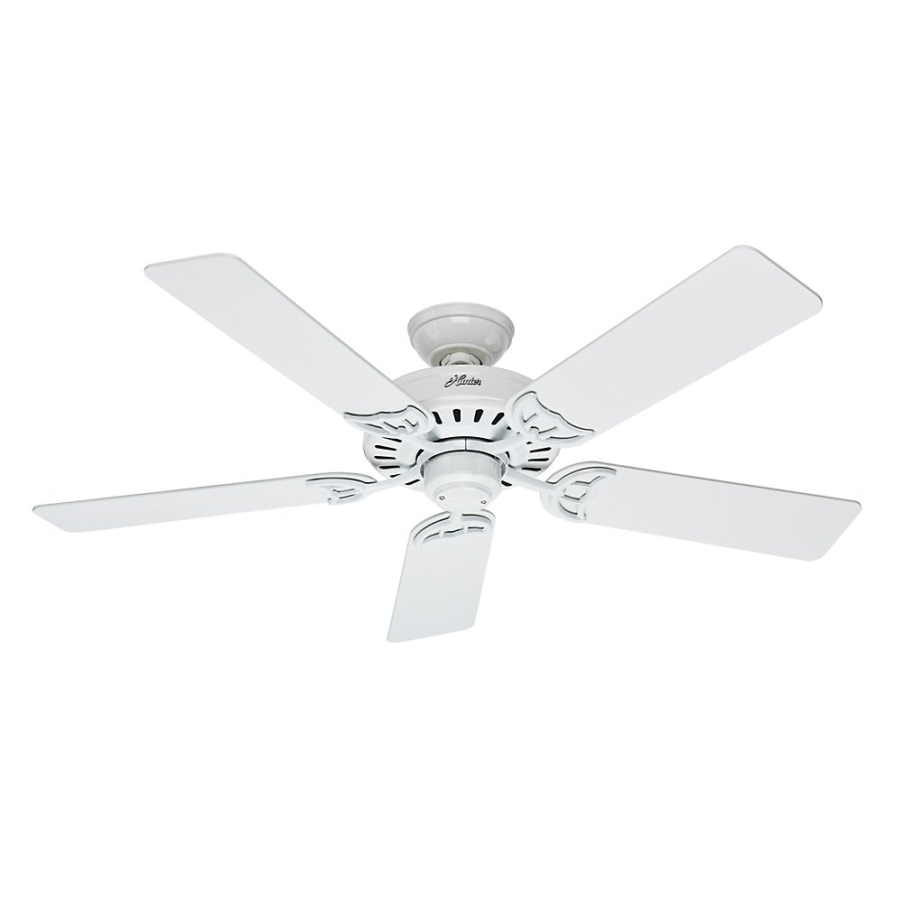 Hunter 53039 Summer Breeze 52-Inch Ceiling Fan with Five Blades, White Hunter Fan Company