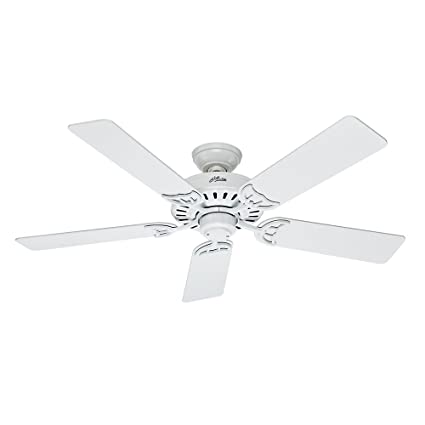Hunter 53039 Summer Breeze 52 Inch Ceiling Fan With Five Blades White