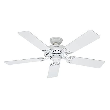 Hunter fan 53039 summer breeze 52 inch ceiling fan with five hunter fan 53039 summer breeze 52 inch ceiling fan with five blades white mozeypictures Images