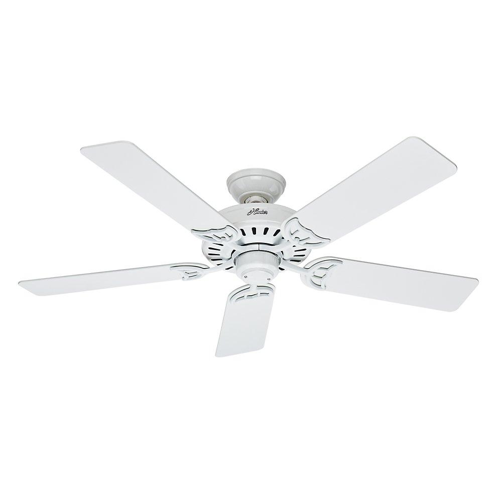 Hunter 53039 Summer Breeze 52-Inch Ceiling Fan with Five Blades, White by Hunter Fan Company