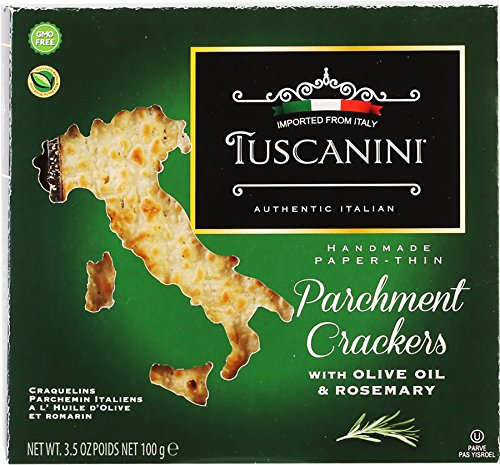 Tuscanini parchment Crackers, Olive Oil and Rosemary 3.5oz (2 Pack)