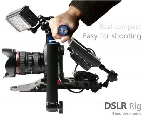 Plegable DSLR Rig película Kit película haciendo sistema hombro ...