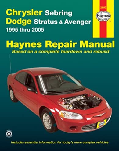 chrysler sebring dodge stratus avenger 1995 thru 2005 haynes rh amazon com 2005 dodge stratus sxt owners manual dodge stratus owners manual 2005