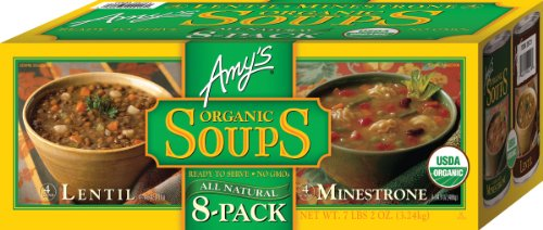 - Amy's Organic Soups, 2 Flavor Variety Pack (Pack of 8)