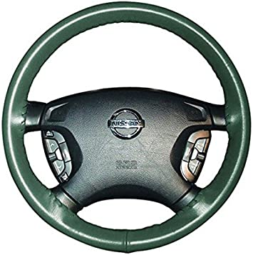 Amazon Com Wheelskins Genuine Leather Green Steering Wheel Cover Compatible With Mercury Vehicles Size Axx Automotive
