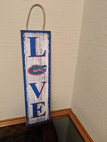 NCAA Florida Gators | Love | Sign | Wood | Rope Hanger Licensed ()