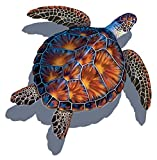 Sea Turtle Porcelain Swimming Pool Mosaic (26'' x 26'' with Shadow, Brown)
