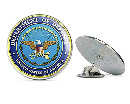 NYC Jewelers Round US Department of Defense Seal (DOD Logo Insignia Military Army) Metal 0.75