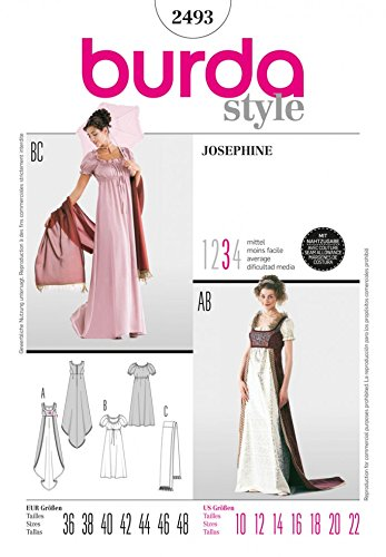 Burda Craft Sewing Pattern 2493 - Josephine Sizes: One Size: Amazon ...