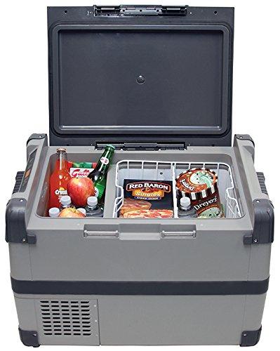 max-burton-6989-portable-fridge-freezer-53-qt-12v-24v-no-ice-required-temperature-7f-to-53f-steel-re