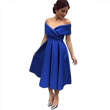 LovelyBridal Hot Sale Party Prom Dress Vestido de Festa Sweetheart Neck High-Low Satin Lace