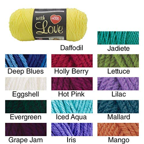 Red Heart with Love Yarn Holly Berry