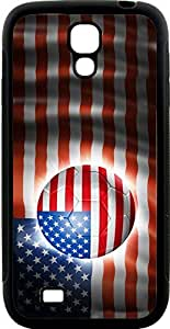Rikki KnightTM Brazil World Cup 2014 USA United States of America Team Football Soccer Flag Design Samsung? Galaxy S4 Case Cover (Black Hard Rubber TPU with Bumper Protection) for Samsung Galaxy S4 i9500