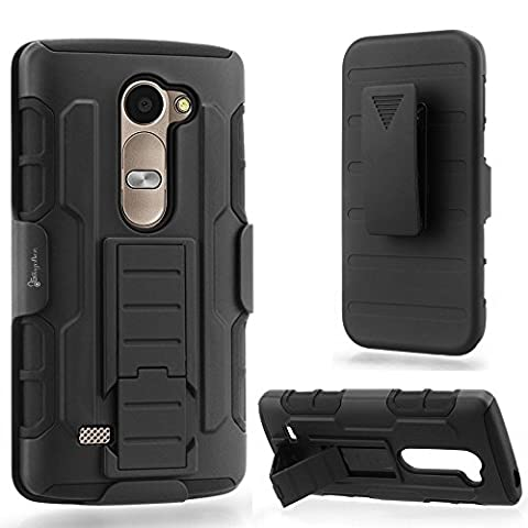 LG Destiny Case, NageBee - LG Destiny (LG L21G) - Advanced Armor Hard Hybrid Case Cover Military Stand Holster Locking Belt Swivel Clip Combo Case for LG Destiny (LG L21G) (Holster Combo (Military Cell Phone Covers)