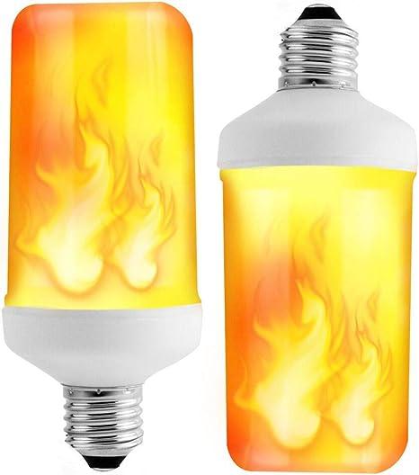 Amazon.com: Prosperbiz Bombilla de llama, E26 Flickering ...