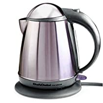 Chef's Choice 677SSG Cordless Electric Kettle-Stainless Steel Gray