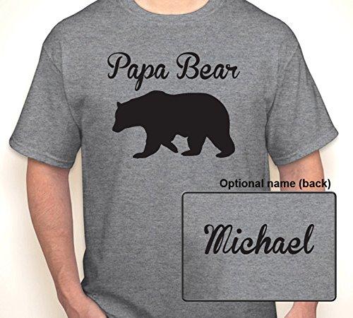 bda0026874 Amazon.com  PAPA BEAR (OR ANY TEXT) WITH OPTIONAL TEXT ON BACK